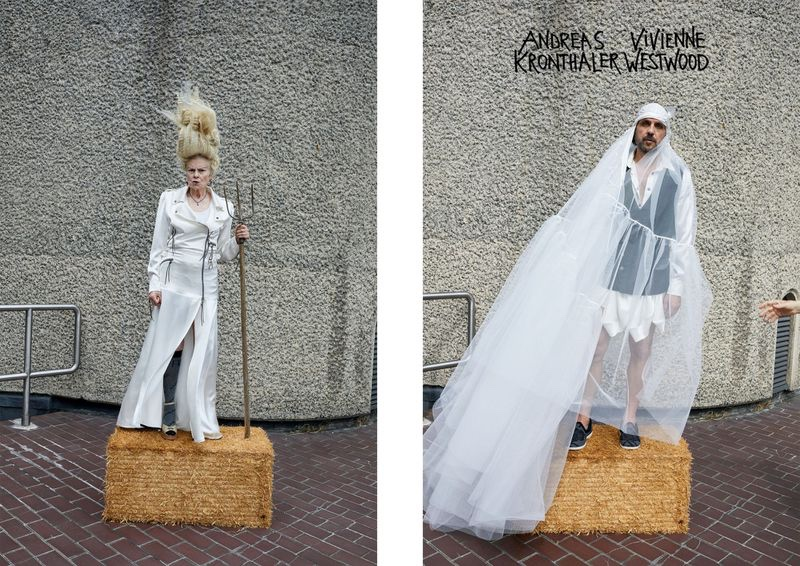 Designers Vivienne Westwood and Andreas Kronthaler make in appearance in their fall-winter 2019 campaign.