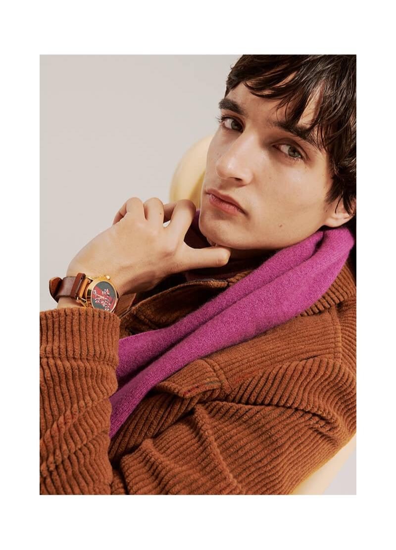 Making a case for corduroy, Pablo Fernandez wears a jacket by Hevò.