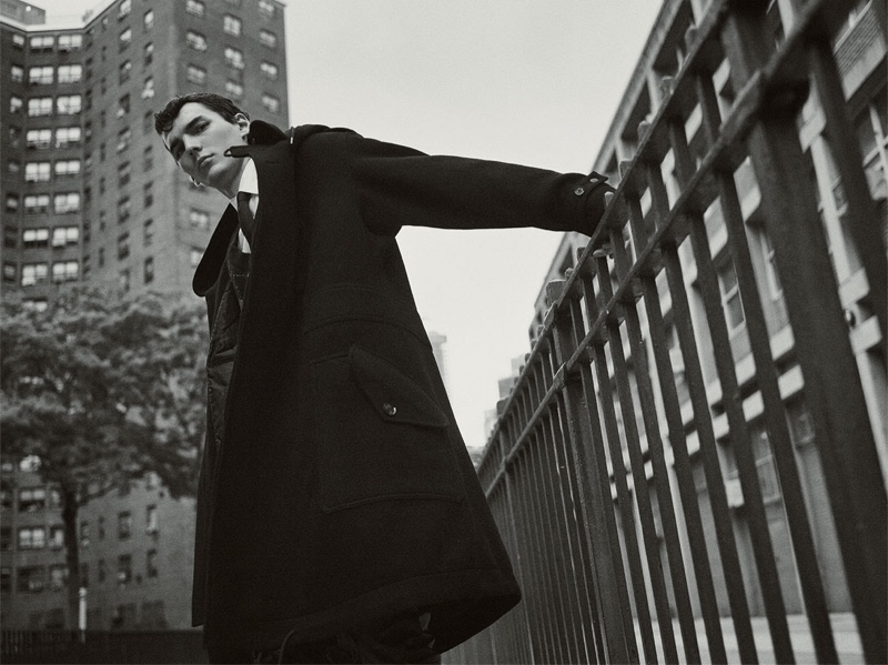 Model Eli Epperson fronts Zara's new fall-winter 2019 Collection campaign.
