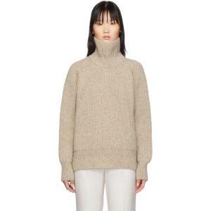 AMI Alexandre Mattiussi Beige Bulky Wool Sweater