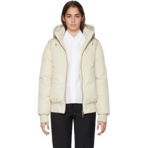 AMI Alexandre Mattiussi Off-White Down Hooded Jacket