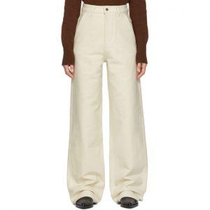 AMI Alexandre Mattiussi Off-White Large Leg Fit Trousers