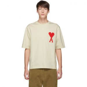 AMI Alexandre Mattiussi Off-White Oversized Ami De Coeur T-Shirt