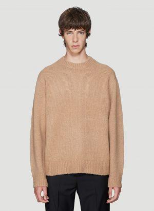 Acne Studios Kael Knit Sweater in Beige size XL