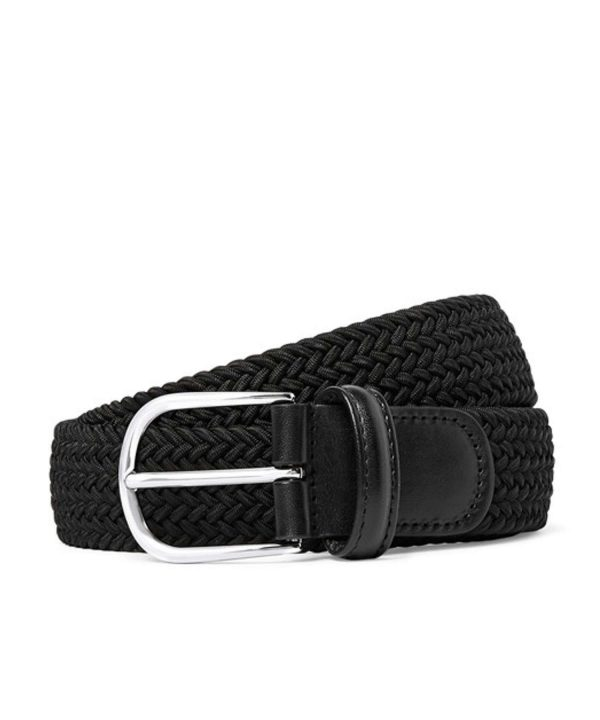 Anderson's Solid Woven Elastic Belt in Black