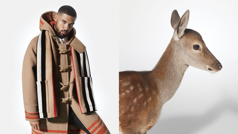 English soccer player Ruben Loftus-Cheek appears in Burberry's holiday 2019 campaign.