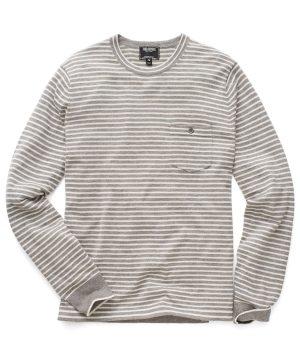 Cashmere T-Shirt Sweater in Grey Stripe
