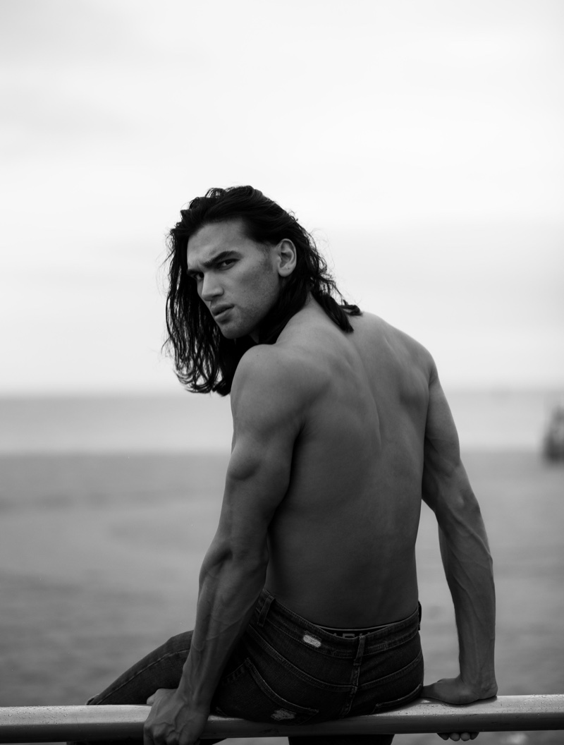 Chand Smith Hits the Beach for L'Officiel Hommes Poland