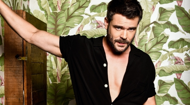 How to Away With Murder star Charlie Weber appears in a photo shoot for A Book Of magazine.