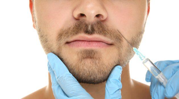 Cosmetic Treatment Men Needle
