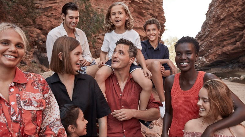Front and center, Ollie Edwards appears in Country Road's summer 2020 campaign.