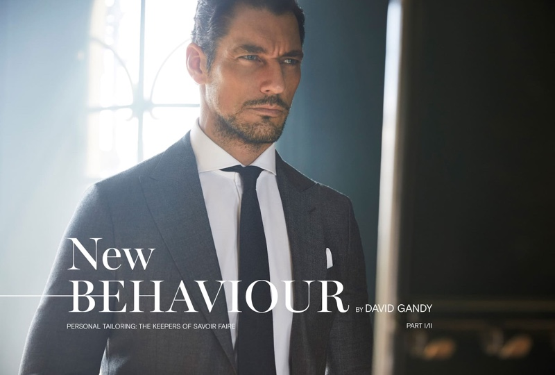 David Gandy dons Massimo Dutti Personal Tailoring.