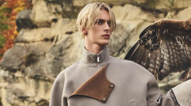 Dominik Sadoch Dons Dior Men for GQ Germany