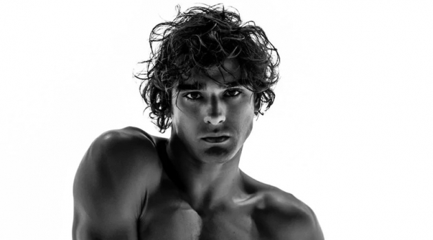 Marlon Teixeira fronts Dsquared2's denim campaign.