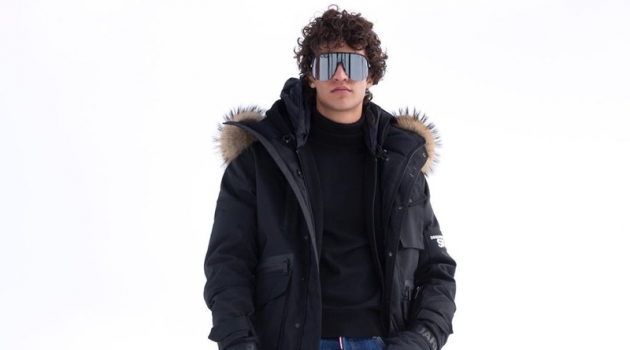 Francisco Henriques sports a warm look from the Dsquared2 Ski collection.