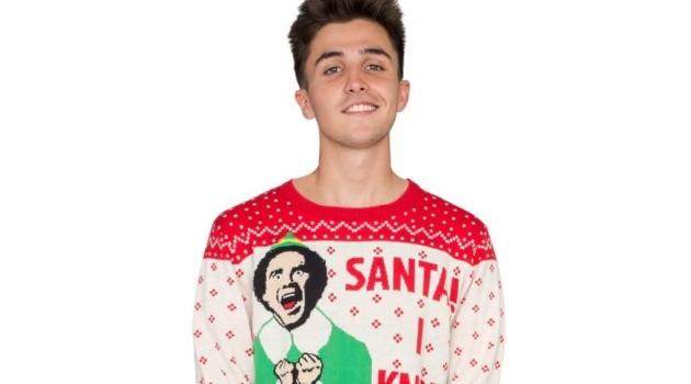 "Elf Buddy ""Santa I Know Him"" Ugly Christmas Sweater"