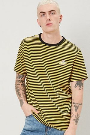 Embroidered Skateboard Dog Graphic Striped Tee at Forever 21 , Black/yellow