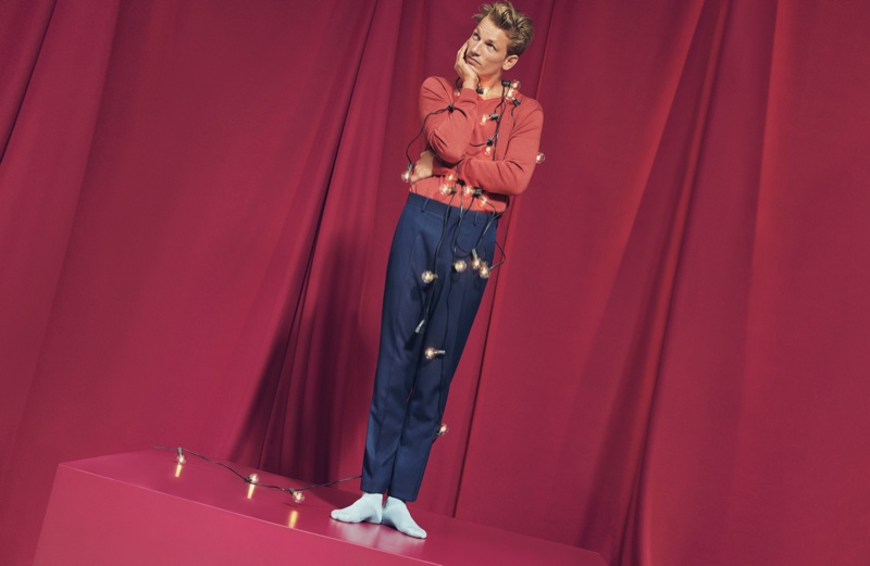 Hugo Sauzay stars in Esprit's holiday 2019 campaign.