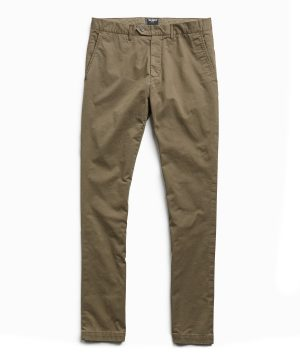 Extra Slim Fit Tab Front Stretch Chino in Olive