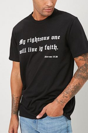 Faith Graphic Tee at Forever 21 , Black/white