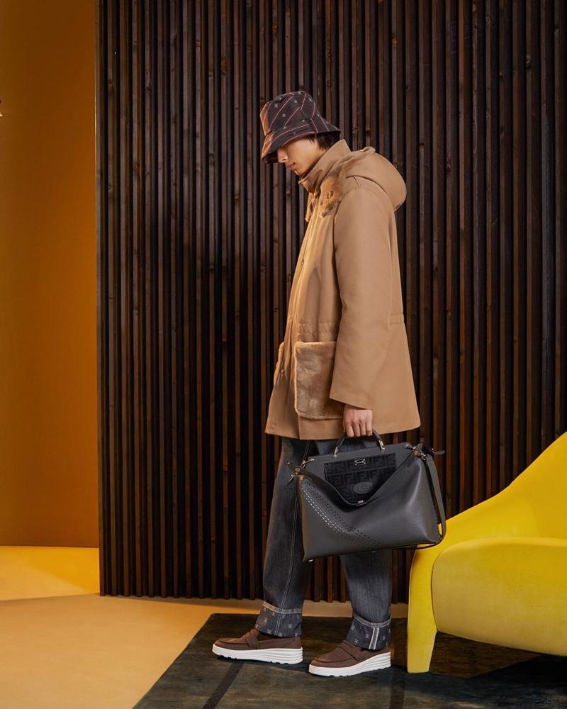 Yang Hao dons resort 2020 menswear from Fendi.