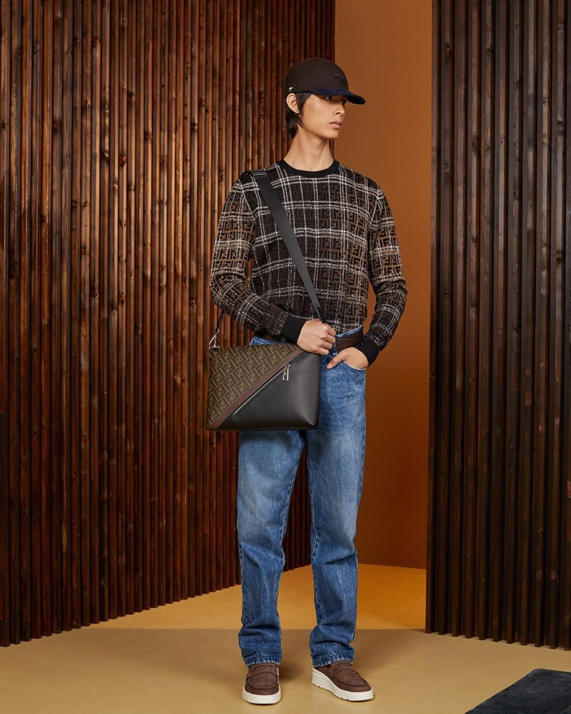 Going casual, Yang Hao wears a look from Fendi's resort 2020 collection.