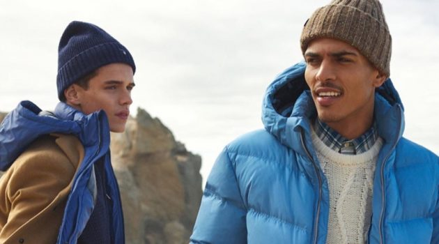 Models Jordy Baan and Geron McKinley star in GANT's fall-winter 2019 campaign.