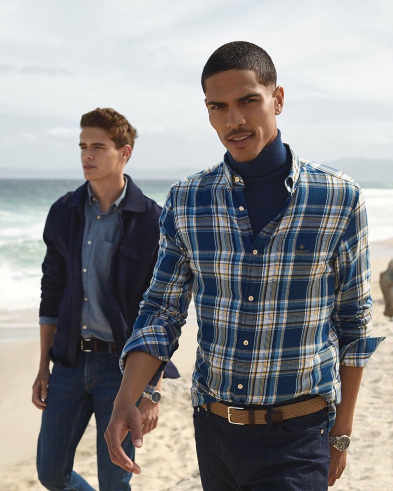 GANT enlists models Jordy Baan and Geron McKinley as the stars of its fall-winter 2019 campaign.