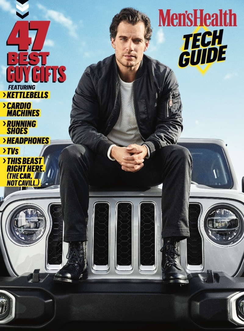 Connecting with Men's Health, Henry Cavill covers the magazine's Tech Guide.