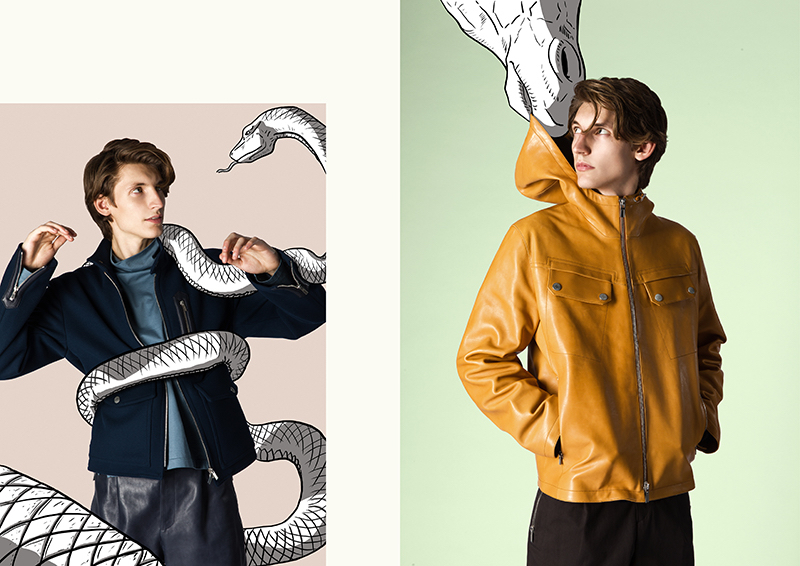 Front and center, Giel tackles a covetable fall wardrobe from Hermès.