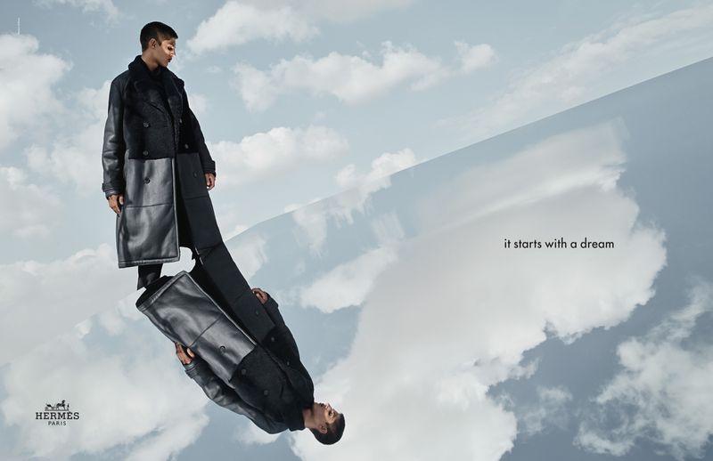 Kiran Farebrother stars in Hermès' fall-winter 2019 campaign.