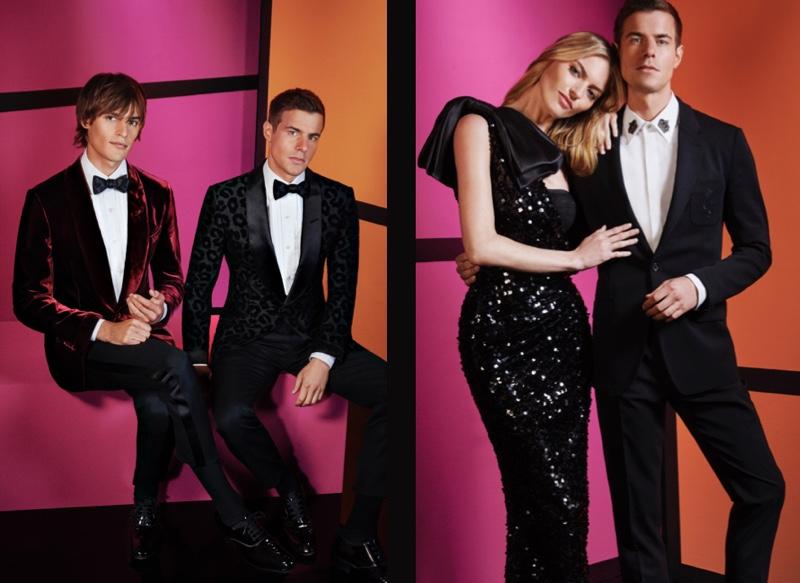 Parker van Noord and Jules Horn inspire in evening looks from Dolce & Gabbana for Holt Renfrew.