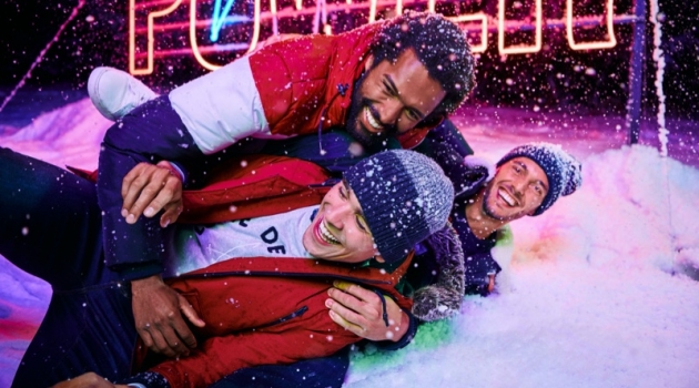 Models Thiago Santos, Gonçalo Pinto, and Federico Cola star in Jules' Christmas 2019 campaign.