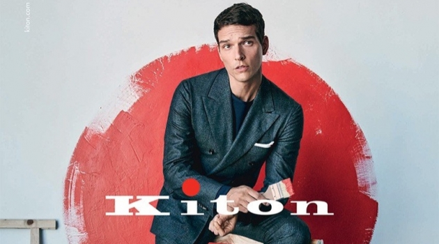 Alexandre Cunha fronts Kiton's fall-winter 2019 campaign.