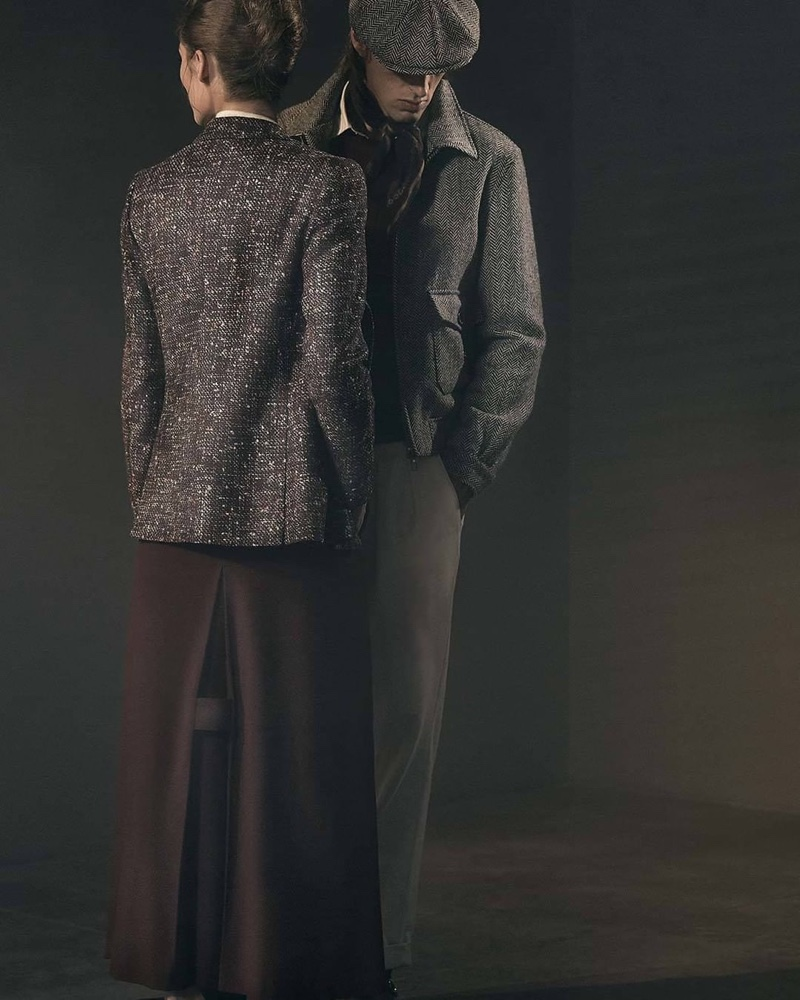 Tackling smart vintage-inspired style, Annie Tice and Joel Frampton connect with Lardini for fall-winter 2019.