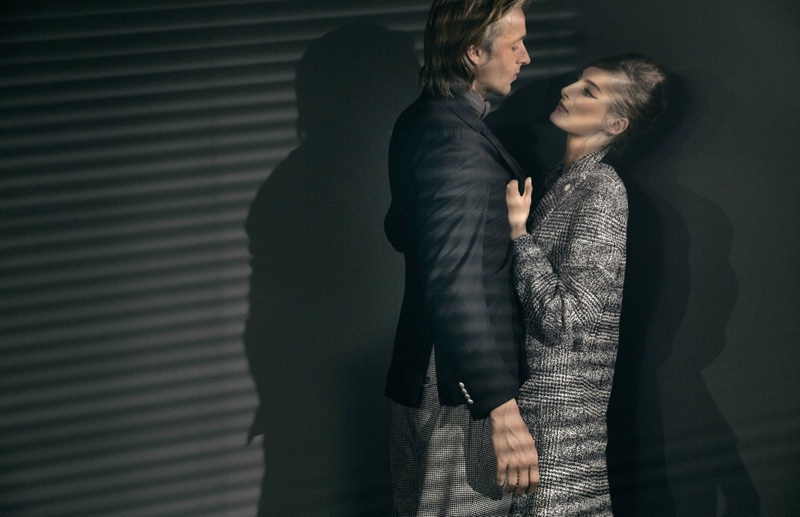 Lucio Gelsi captures models Joel Frampton and Annie Tice in retro-inspired styles for Lardini.