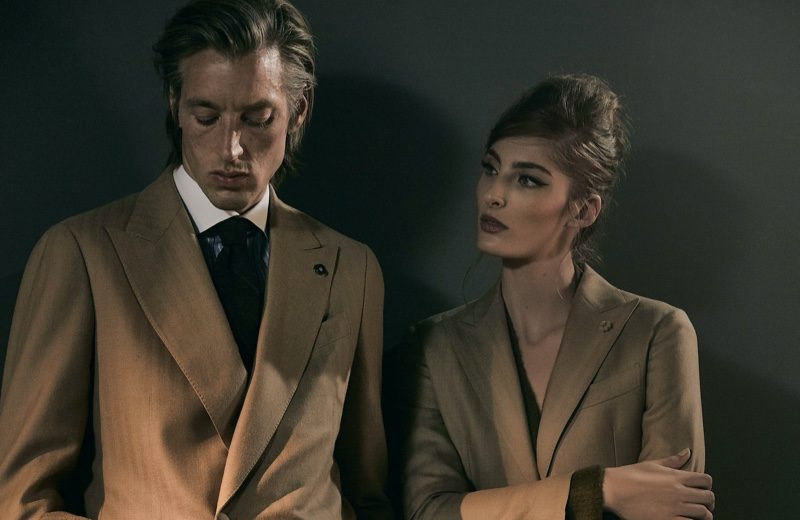 """Models Joel Frampton and Annie Tice come together for Lardini's fall-winter 2019 campaign entitled """"Obsession."""""""