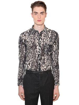 Leopard Print Cotton & Silk Shirt