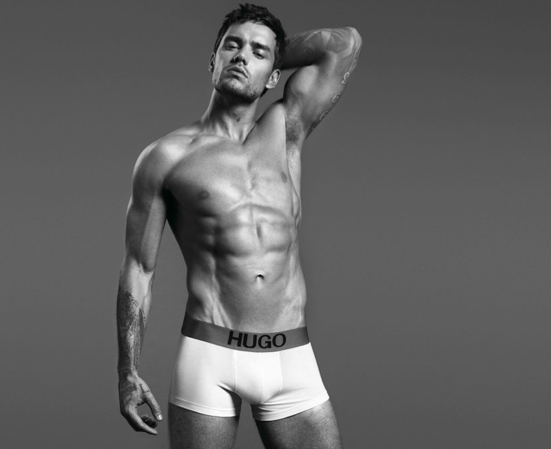 Stripping down to his underwear, Liam Payne fronts HUGO's Bodywear campaign.