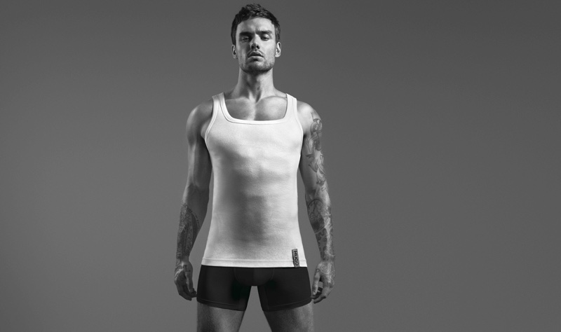 Front and center, Liam Payne stars in HUGO's Bodywear campaign.