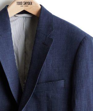Linen Sutton Suit Jacket in Navy