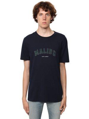 Logo Malibu Print Cotton Jersey T-shirt