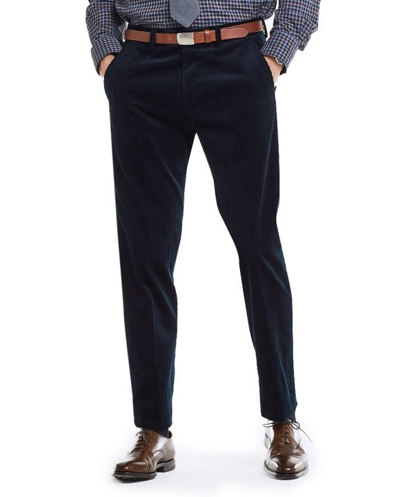 Made in USA Black Label Wide Wale Cord Suit Trouser in Navy