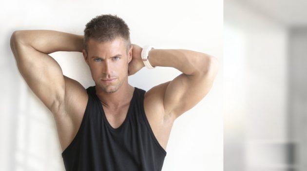 Male Model Tank Top Sweats Athletic