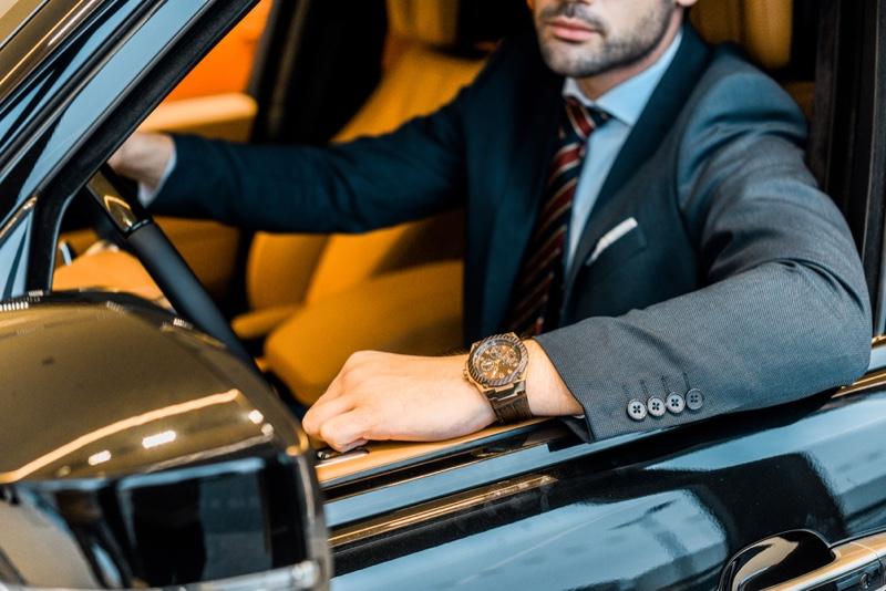 Man Car Luxury Watch Suit