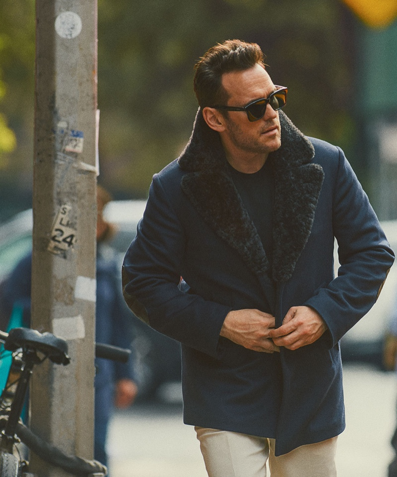 Making a case for smart everyday style, Matt Dillon dons Brioni.