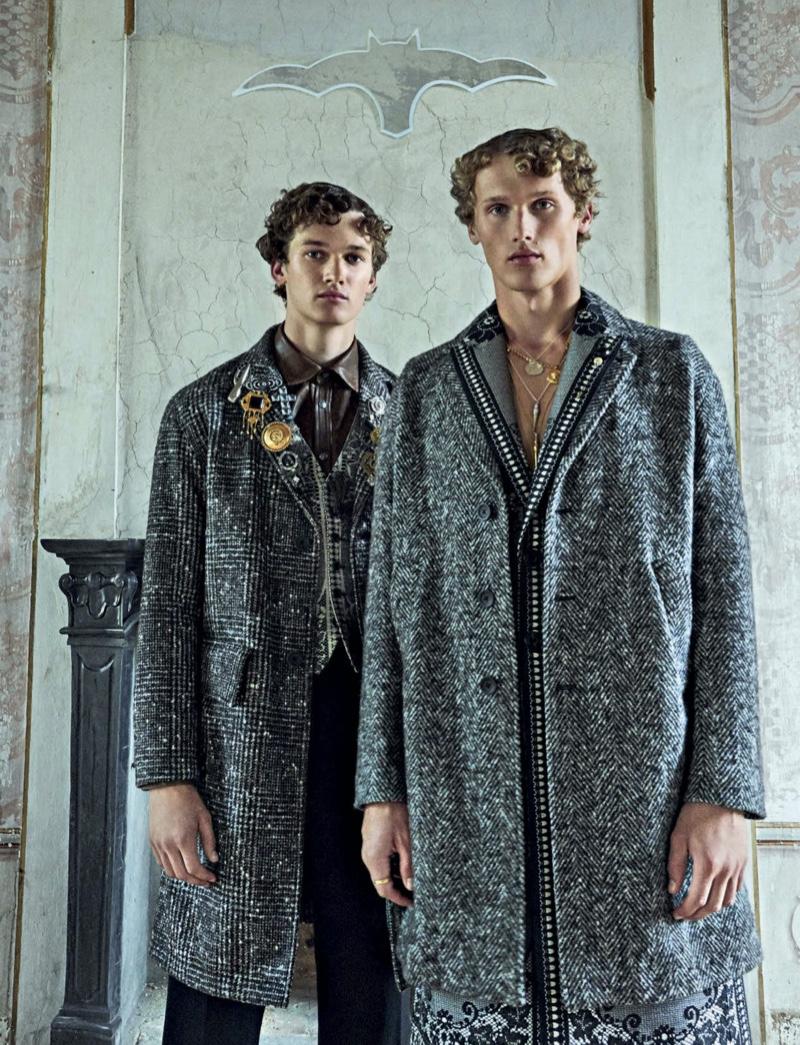 Mees & Bram Valbracht Are Winter Dandies for Vanity Fair Italia