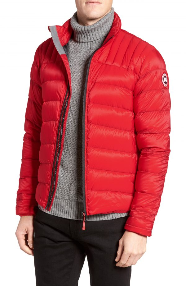 Men's Canada Goose 'Brookvale' Slim Fit Packable Down Jacket, Size Small - Red