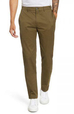 Men's Club Monaco Connor Slim Fit Stretch Cotton Chino Pants, Size 34 x 32 - Green