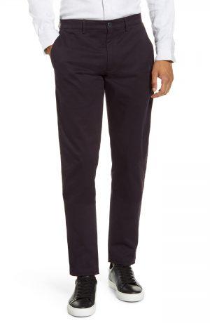 Men's Club Monaco Connor Slim Fit Stretch Cotton Chino Pants, Size 38 x 32 - Burgundy